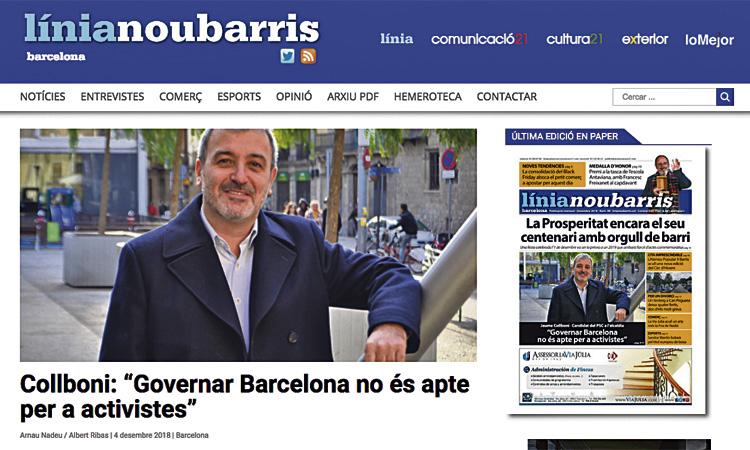 Línia Nou Barris estrena un nou web redissenyat