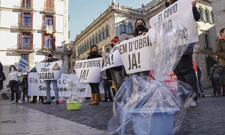 Nova protesta de la restauració i el comerç contra el Govern