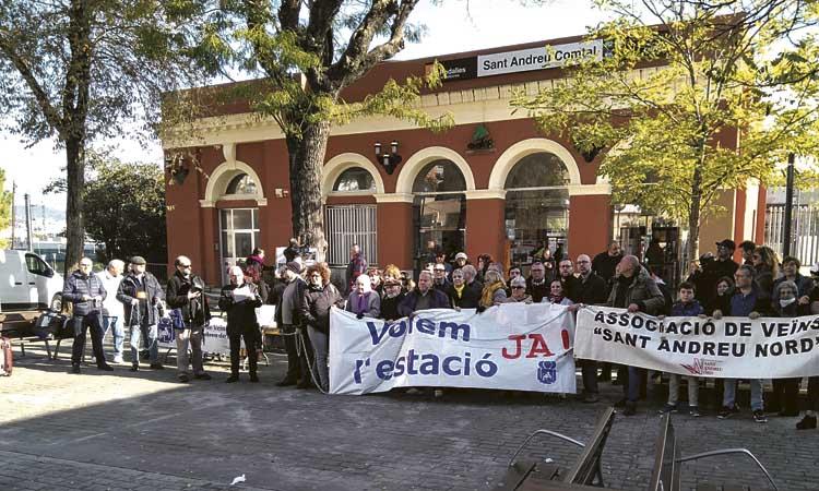Tornen a exigir que es faci la nova estació de Sant Andreu