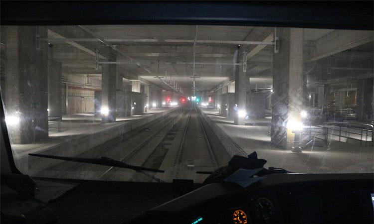 En marxa la circulació de trens per l'estació de la Sagrera