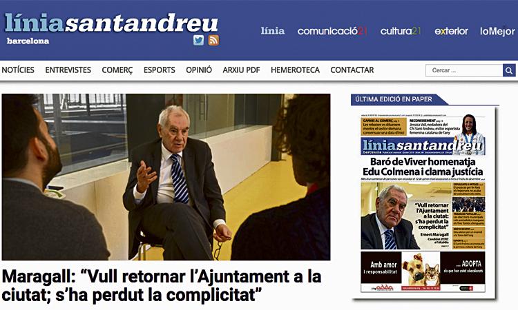 Línia Sant Andreu estrena un nou web redissenyat
