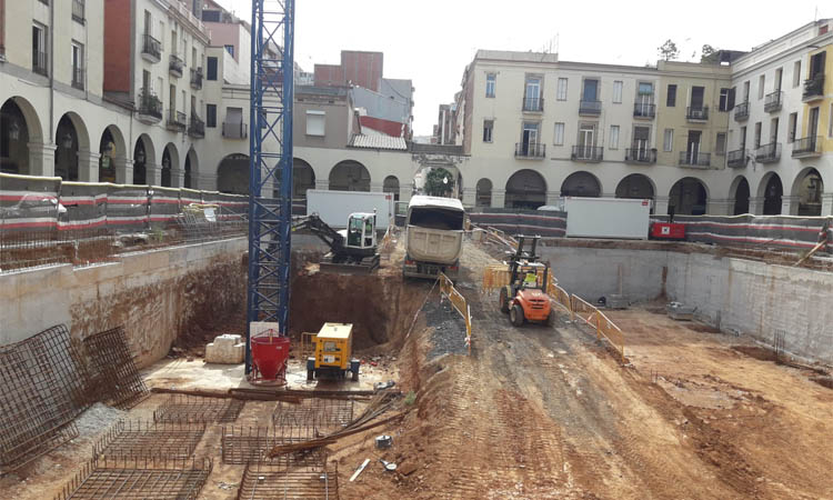 Es reprenen les obres del nou Mercat de Sant Andreu