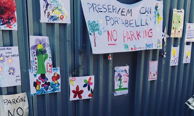 Oposició veïnal a la construcció d'un pàrquing a Can Portabella