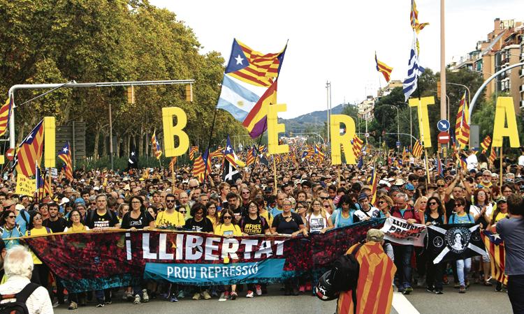 La Meridiana acull part de les protestes independentistes