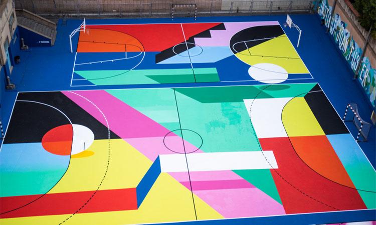 Explosió d'art i colors a les pistes de I'institut Joan Fuster