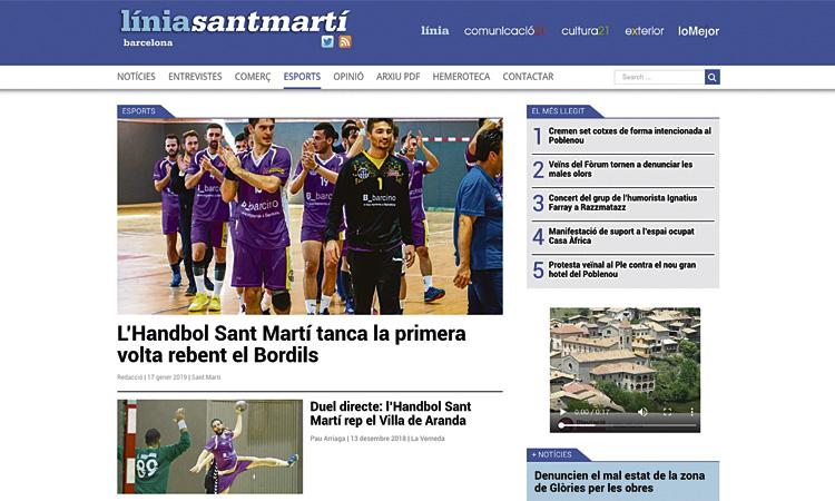Línia Sant Martí estrena un nou web redissenyat
