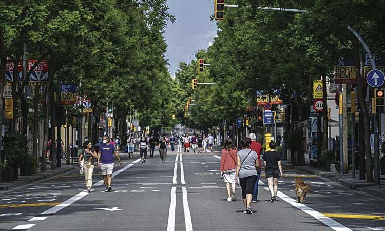 Contra la pandèmia, una ciutat per als vianants i els ciclistes