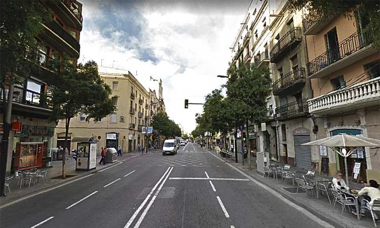Reducció de la velocitat als carrers de Sants i Creu Coberta