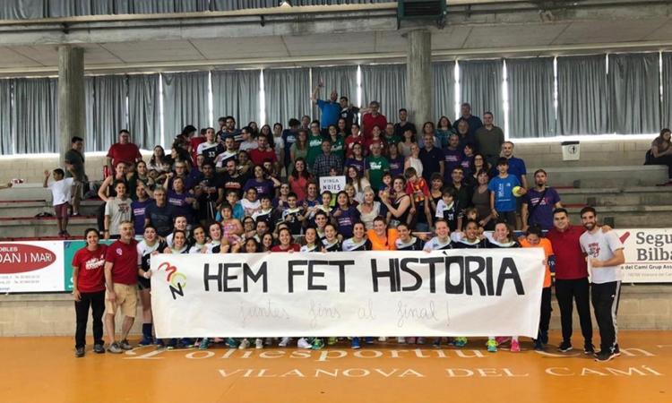 Ascens històric del BCNSants a la Lliga Catalana d'handbol