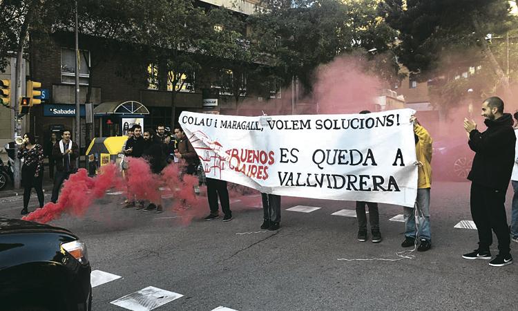 Nova protesta en defensa de l'antic Hotel Buenos Aires