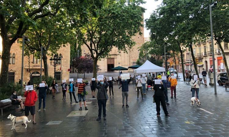 #RecuperemElsCarrers es concentra a la plaça de Sarrià