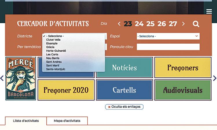 Sarrià-Sant Gervasi no surt al programa de la Mercè