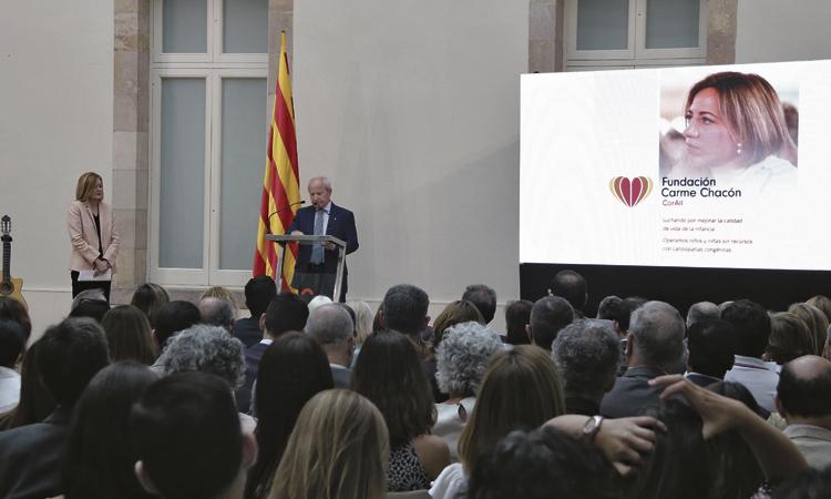 El Parlament acull la presentació de la Fundació Carme Chacón