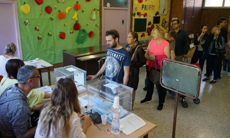 La participació puja més de sis punts a Esplugues aquest 26-M