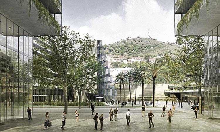 La plaça del parc empresarial del pla Caufec s'obrirà als veïns