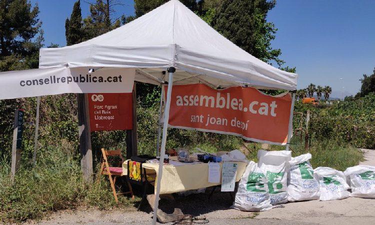 Recullen més de 100 quilos de deixalles al Camí dels Horts de Sant Joan Despí