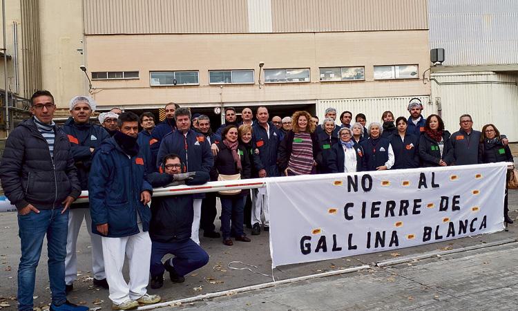 Gallina Blanca pacta amb els treballadors el tancament