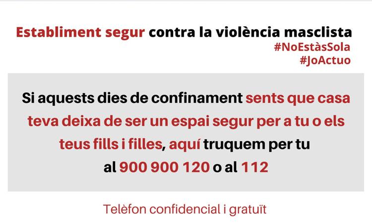 Botigues segures de Sant Just per a les víctimes de violència masclista