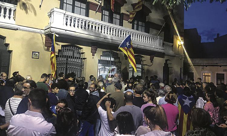 Manifestació a Sant Joan contra la sentència del Procés