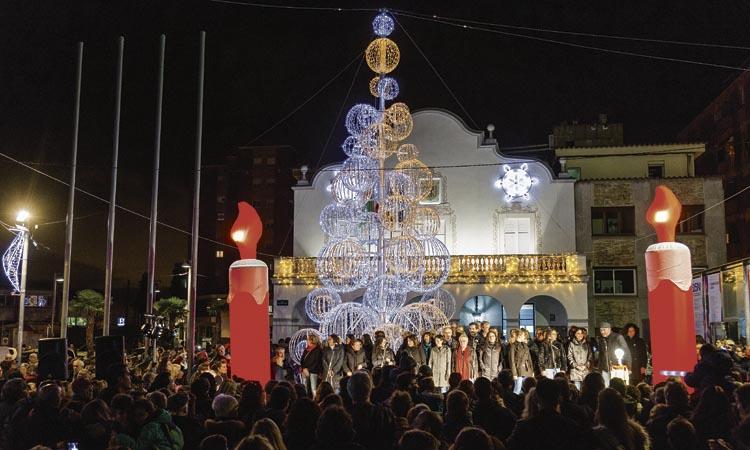 L'encesa dels llums de Nadal marca l'inici de les festes