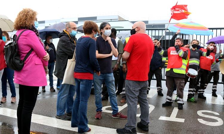 Osuna s'uneix a les protestes dels treballadors de Lidl