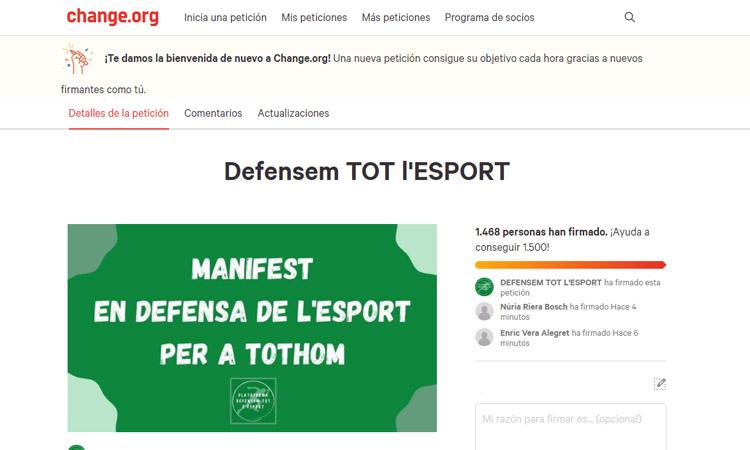 El CEVO se suma al Manifest en Defensa de l'Esport