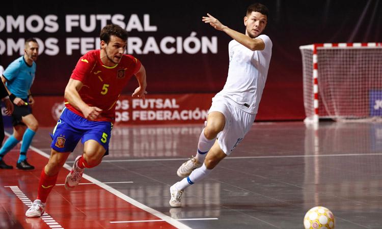 Eric Pérez, debut i gol amb la selecció espanyola absoluta de futbol sala