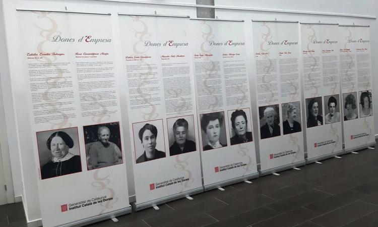 El 8-M escalfa motors a Santa Perpètua amb la mostra 'Dones d'empresa'