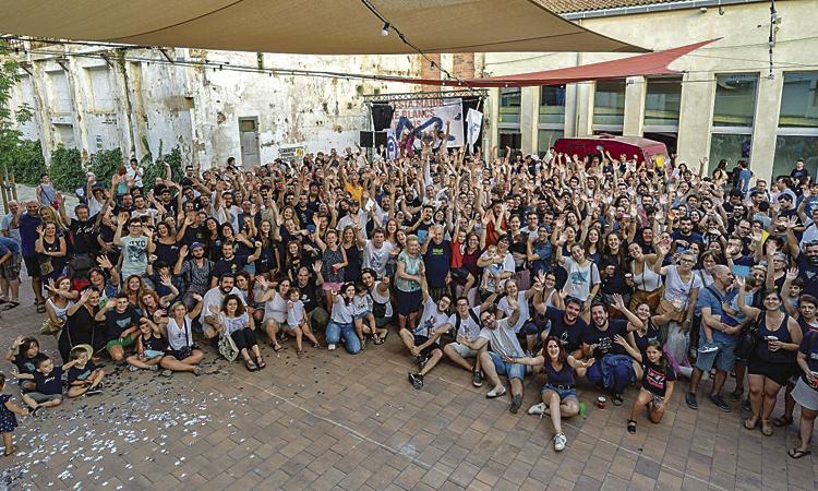 Granollers ja respira l'ambient de Festa Major de Blancs i Blaus