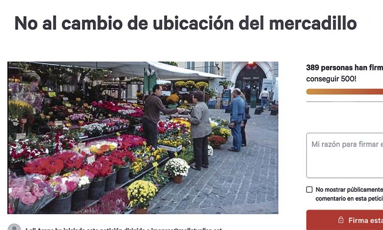 El mercat setmanal de Mollet surt del centre de la ciutat