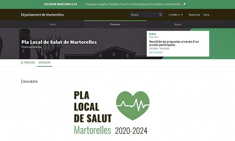 Un procés participatiu a Martorelles per dissenyar el Pla Local de Salut