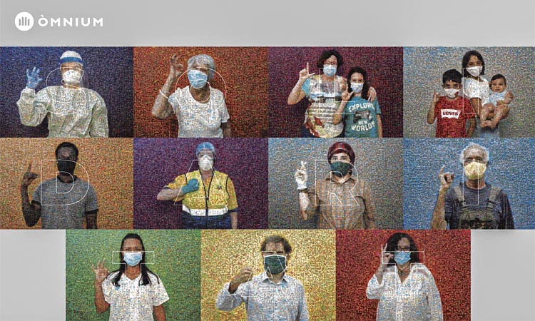 50.000 imatges de solidaritat: el gran mural de Fontcuberta