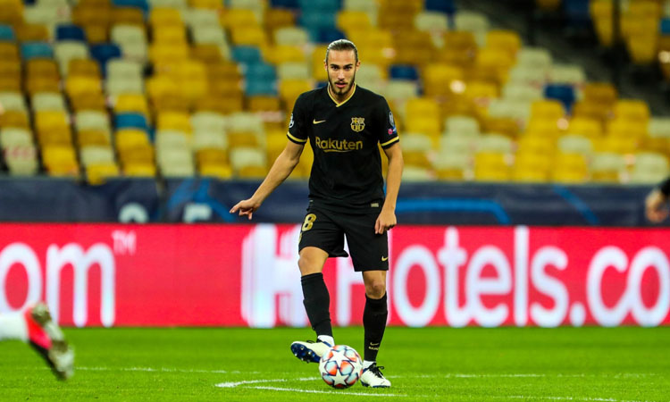 El perpetuenc Óscar Mingueza debuta a la Champions amb el Barça