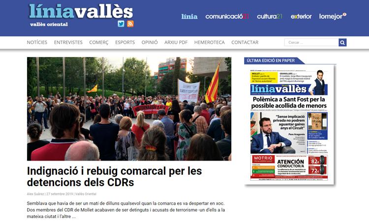 Línia Vallès se suma a la vaga general de l'11-O