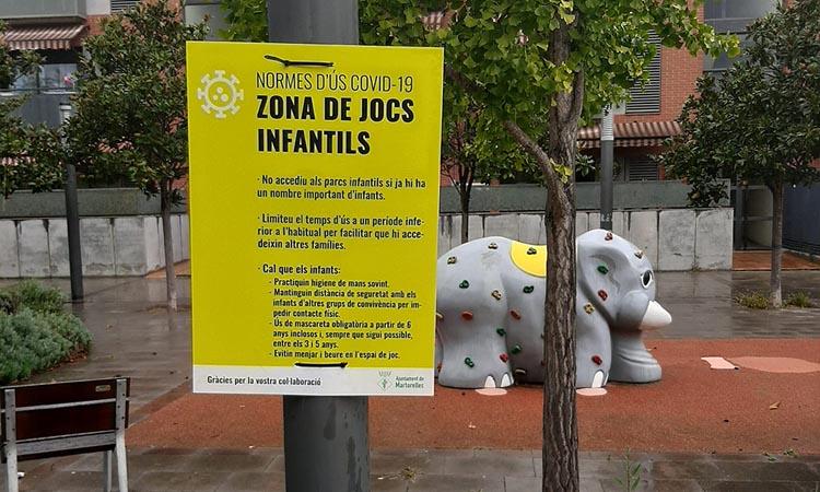 Més mesures de prevenció de la Covid als parcs de Martorelles
