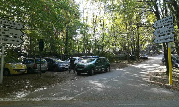 Els Mossos restringiran l'accés en cotxe al Montseny