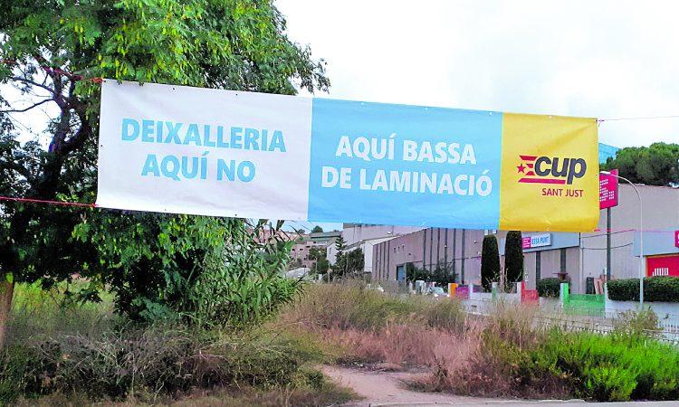 Pancarta deixalleria Sant Just
