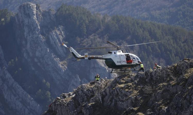 Helicòpter de la Guàrdia Civil en un rescat
