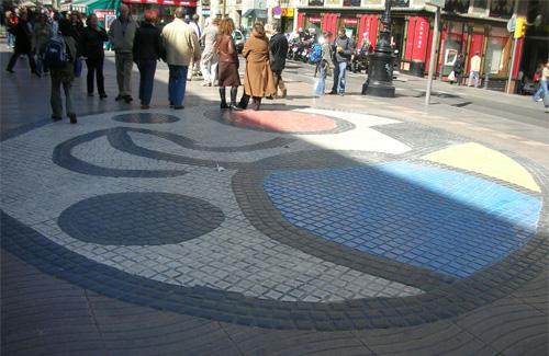 El memorial es col·locarà al costat del mosaic de Joan Miró. Foto: Arxiu