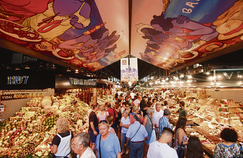 La Boqueria, el mercat més famós de la ciutat. Foto: Marta Rubio (La Boqueria)