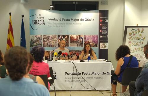 La presentació de l'edició d'enguany de la Festa Major. Foto: Línia Gràcia