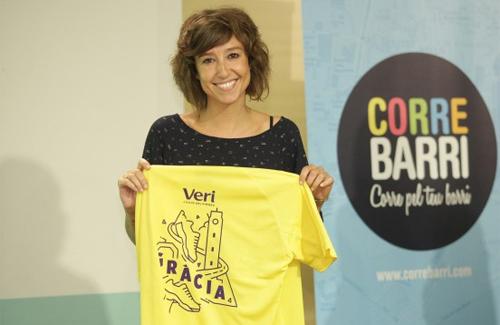 Agnès Marquès representa Gràcia al Correbarri 2014