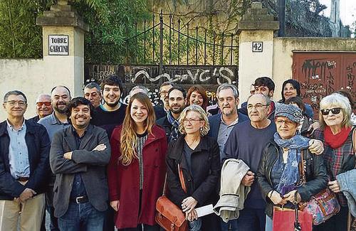 Partits i veïns el dia de l'anunci de la compra de Can Garcini. Foto: Ajuntament