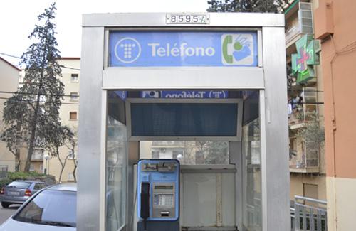 La cabina telefònica serà un intercanviador de llibres. Foto: Cristian López