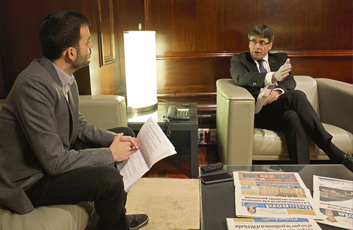 """Puigdemont: """"L'àrea metropolitana és una estructura d'Estat"""""""