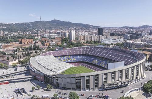 La reforma del Camp Nou segueix portant cua. Foto: Línia Les Corts