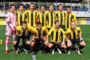 Foto d'equip del CF Montañesa