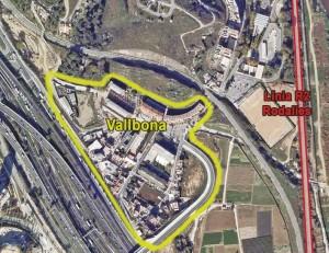La R2 al seu pas per Vallbona es soterrarà a inicis del 2012