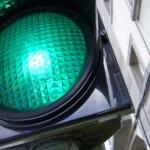Llum verda al camí escolar