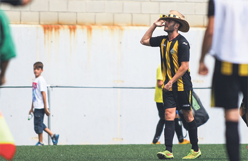 Pedro Garcia va anotar el segon gol contra el Castelldefels. Foto: UEC